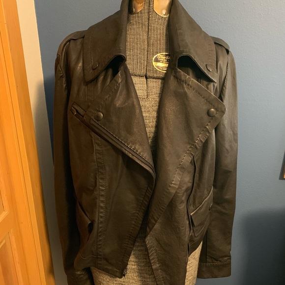 Jackets & Blazers - Italian Leather Moto Jacket